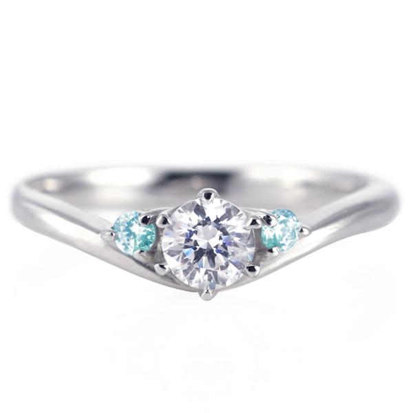 婚約指輪 ダイヤモンド プラチナリング 一粒 大粒 指輪 エンゲージリング 0.4ct プロポーズ用 レディース 人気 ダイヤ 刻印無料 11月 誕生石 ブルートパーズ