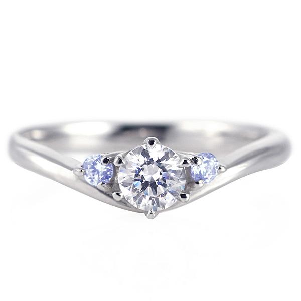 婚約指輪 ダイヤモンド プラチナリング 一粒 大粒 指輪 エンゲージリング 0.4ct プロポーズ用 レディース 人気 ダイヤ 刻印無料 12月 誕生石 タンザナイト