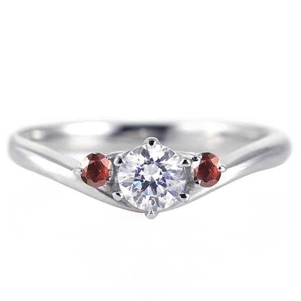 婚約指輪 ダイヤモンド プラチナリング 一粒 大粒 指輪 エンゲージリング 0.5ct プロポーズ用 レディース 人気 ダイヤ 刻印無料 1月 誕生石 ガーネット