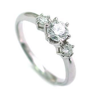 エンゲージリング 婚約指輪 ダイヤモンド ダイヤ プラチナ リング スリーストーン 0.33ct