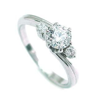 エンゲージリング 婚約指輪 ダイヤモンド ダイヤ プラチナ リング メレ 0.35ct