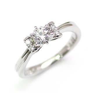リボン AneCan掲載 (Brand アニーベル) Pt ダイヤモンドデザインリング(婚約指輪・エンゲージリング) メレ 【DEAL】