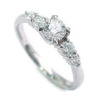 AneCan掲載 (Brand アニーベル) Pt ダイヤモンドデザインリング(婚約指輪・エンゲージリング) メレ
