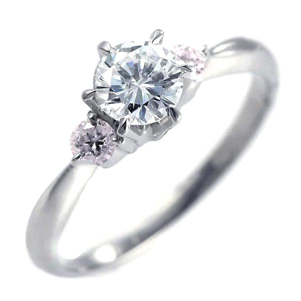 婚約指輪 エンゲージリング プラチナ ピンクダイヤモンド リング