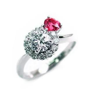 CanCam掲載(Brand アニーベル) Pt ダイヤモンドリング(婚約指輪・エンゲージリング)
