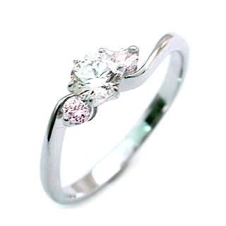 婚約指輪 エンゲージリング プラチナ ピンクダイヤモンド リング ラッピング無料