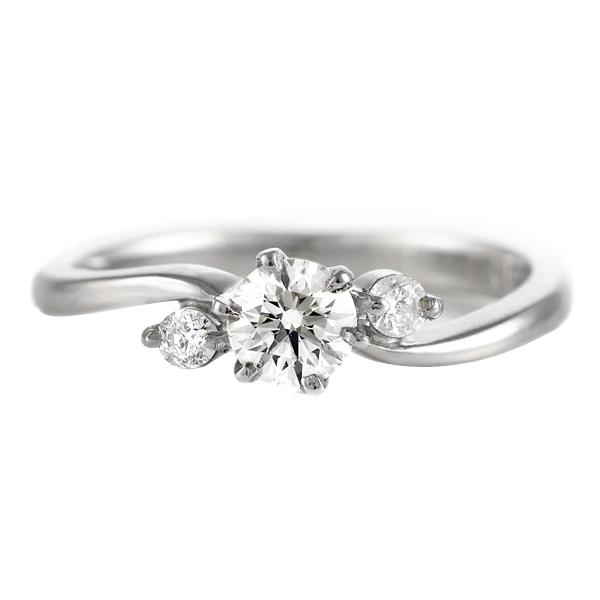 【刻印無料】婚約指輪 エンゲージリング ダイヤモンド プラチナ リング ソリティア 一粒 末広 スーパーSALE
