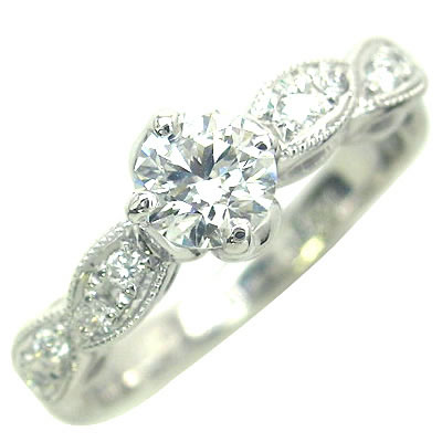 ( 婚約指輪 ) ダイヤモンド プラチナエンゲージリング( Brand Jewelry アニーベル )【DEAL】