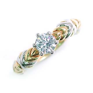 (Brand アニーベル) PtK18ダイヤモンドリング(婚約指輪・エンゲージリング) 【DEAL】