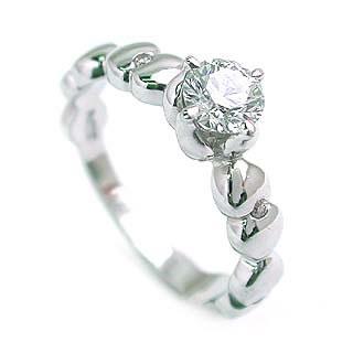 (Brand アニーベル) Pt ダイヤモンドデザインリング(婚約指輪・エンゲージリング)【DEAL】