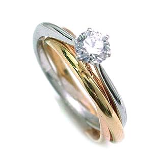 (Brand アニーベル) PtK18ダイヤモンドリング(婚約指輪・エンゲージリング)