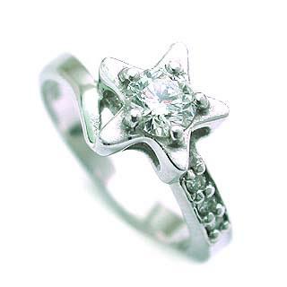 (Brand アニーベル) Pt ダイヤモンドデザインリング(婚約指輪・エンゲージリング) 末広 スーパーSALE
