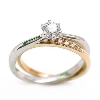 【今だけエントリーで全品5倍!5/18まで限定!】(Brand アニーベル) PtK18ダイヤモンドリング(婚約指輪・エンゲージリング)