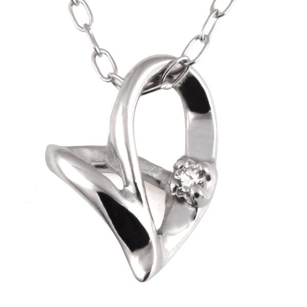ネックレス レディース ダイヤモンド ネックレス ネックレス チェーン ホワイトゴールド ネックレス レディース ハート ダイヤ ネックレス 送料無料
