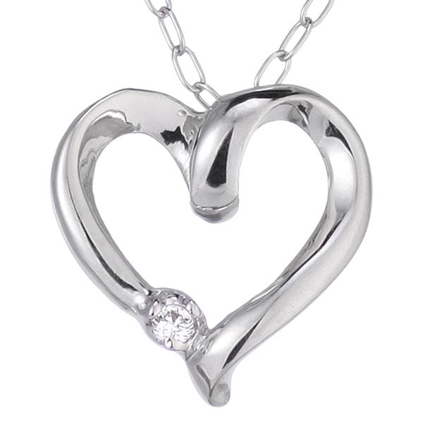 ダイヤモンド ダイヤモンドネックレス ネックレス 【 ハート ダイヤネックレス ♪ 】 ダイヤ プラチナ 彼女 への プレゼント ギフト ラッピング無料【DEAL】