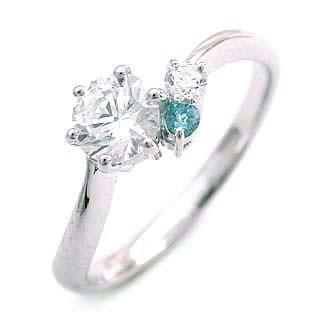婚約指輪 エンゲージリング ダイヤモンド ダイヤ リング 指輪 人気 ダイヤ プラチナ リング アクアマリン 0.33ct【DEAL】