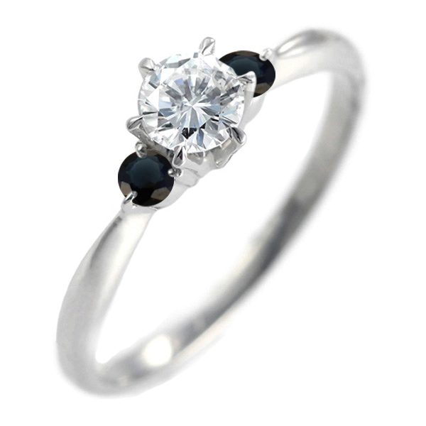 エンゲージリング 婚約指輪 ダイヤモンド ダイヤ プラチナ リング サファイア 0.33ct【DEAL】