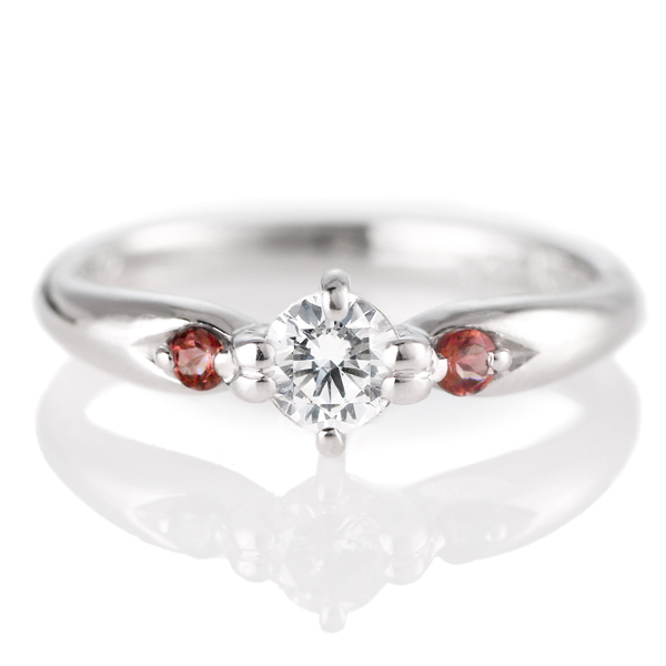 婚約指輪 エンゲージリング ダイヤモンド ダイヤ リング 指輪 人気 ダイヤ プラチナ リング ガーネット 0.35ct 【DEAL】