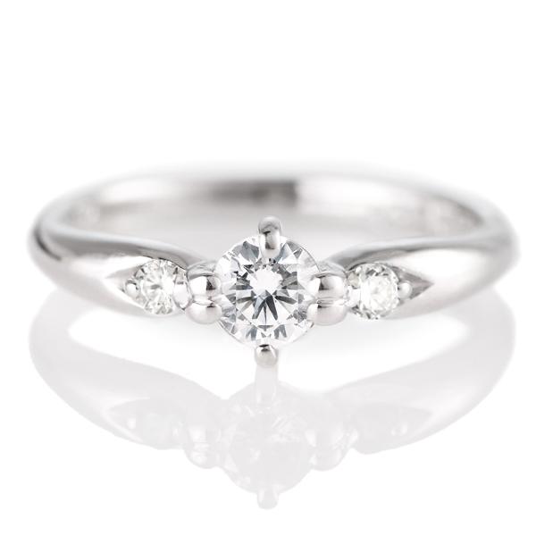 婚約指輪(エンゲージリング)( 4月誕生石 ) プラチナ ダイヤモンドリング(ラウンドブリリアント)