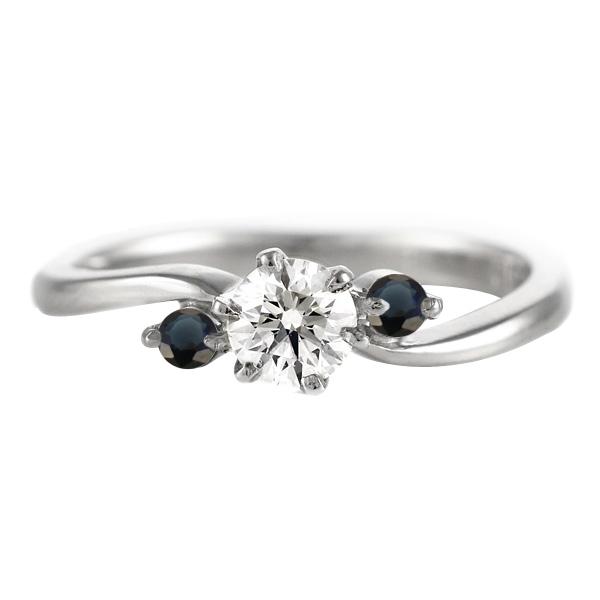 CanCam掲載( 9月誕生石 ) サファイア Pt ダイヤリング(婚約指輪・エンゲージリング)