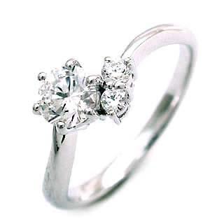 婚約指輪(エンゲージリング) ( 4月誕生石 ) プラチナ ダイヤモンドリング(ラウンドブリリアント)