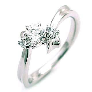 ( 4月誕生石 ) Pt ダイヤモンドリング(婚約指輪・エンゲージリング)【DEAL】