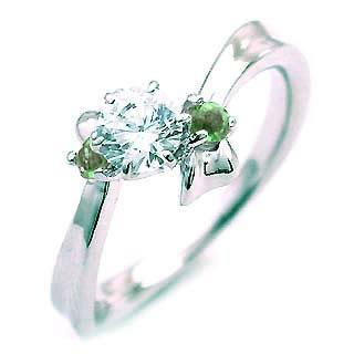 ( 5月誕生石 ) エメラルド Pt ダイヤリング(婚約指輪・エンゲージリング)【DEAL】