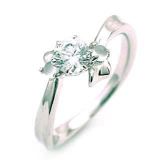 ( 6月誕生石 ) ムーンストーン Ptダイヤリング(婚約指輪・エンゲージリング)