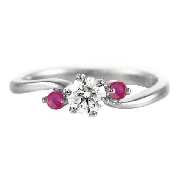 CanCam掲載( 7月誕生石 ) ルビー Pt ダイヤモンドリング(婚約指輪・エンゲージリング) 【DEAL】