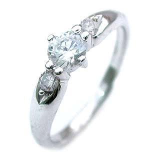 ( 4月誕生石 ) Pt ダイヤモンドリング(婚約指輪・エンゲージリング)
