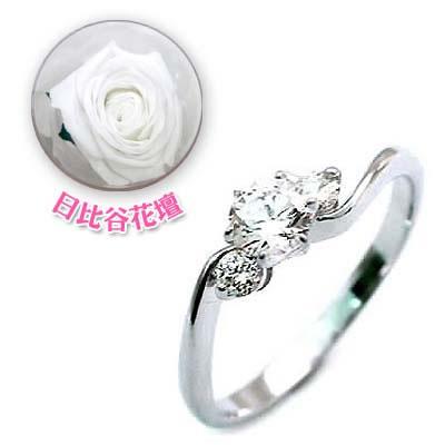 CanCam掲載( 婚約指輪 ) ダイヤモンド プラチナエンゲージリング( 4月誕生石 ) ダイヤモンド(母の日 限定 日比谷花壇誕生色バラ付)
