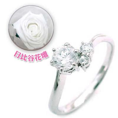 CanCam掲載( 婚約指輪 ) ダイヤモンド プラチナエンゲージリング( 6月誕生石 ) ムーンストーン(母の日 限定 日比谷花壇誕生色バラ付)