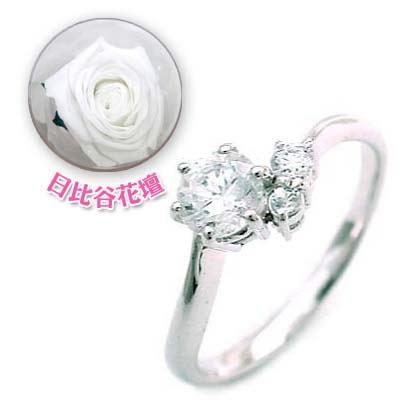 CanCam掲載( 婚約指輪 ) ダイヤモンド プラチナエンゲージリング( 6月誕生石 ) ムーンストーン(母の日 限定 日比谷花壇誕生色バラ付)【DEAL】