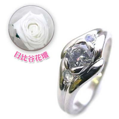 ( 婚約指輪 ) ダイヤモンド プラチナエンゲージリング( 6月誕生石 ) ムーンストーン(母の日 限定 日比谷花壇誕生色バラ付)