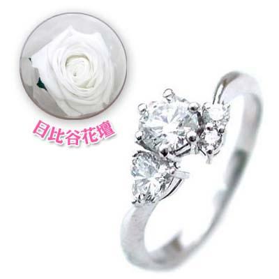 CanCam掲載( 婚約指輪 ) ダイヤモンド プラチナエンゲージリング( 4月誕生石 ) ダイヤモンド(母の日 限定 日比谷花壇誕生色バラ付) 【DEAL】