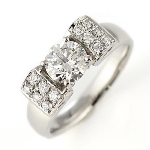 (Brand アニーベル) Pt 1ctUP ダイヤモンドデザインリング(婚約指輪・エンゲージリング) 【DEAL】 末広 スーパーSALE