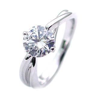 ダイヤモンドリング 1ct 1カラット プラチナリング エンゲージリング 婚約指輪 一粒 大粒 結婚記念 結婚10周年 サプライズ ギフト プレゼント 退職記念 鑑定書付