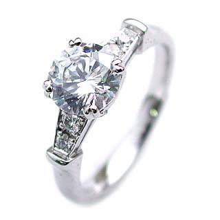 (Brand アニーベル) Pt ダイヤモンドデザインリング(婚約指輪・エンゲージリング)【DEAL】 末広 スーパーSALE