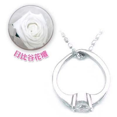 ( 4月誕生石 ) K18WG ダイヤモンドベビーリング・ネックレス(母の日 限定 日比谷花壇誕生色バラ付)