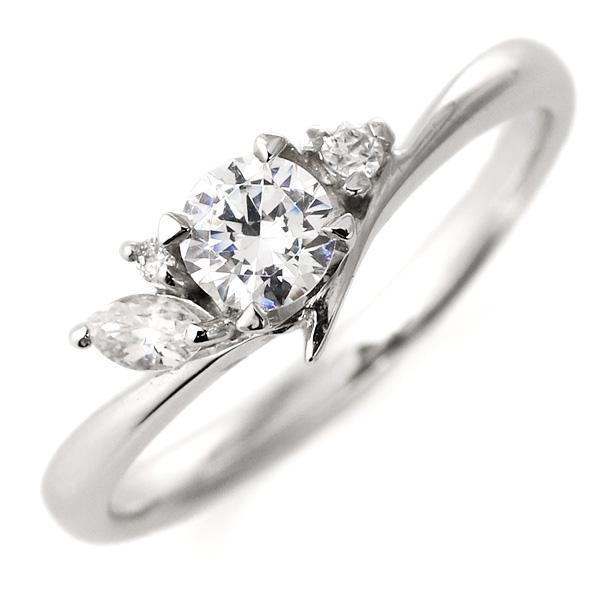 婚約指輪 ダイヤモンド ダイヤ プラチナ リング 0.3ct 天然石 珍しい カット エンゲージリング 鑑別書【DEAL】 末広 スーパーSALE【今だけ代引手数料無料】