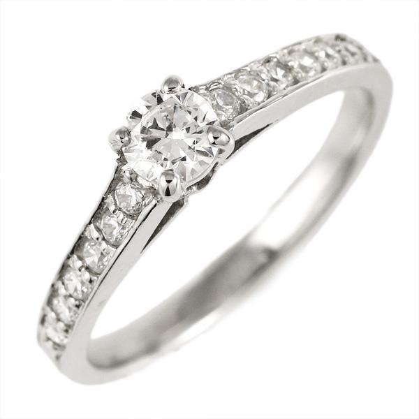 婚約指輪 ダイヤモンド ダイヤ プラチナ リング 0.3ct 天然石 エンゲージリング 鑑別書 末広 スーパーSALE【今だけ代引手数料無料】