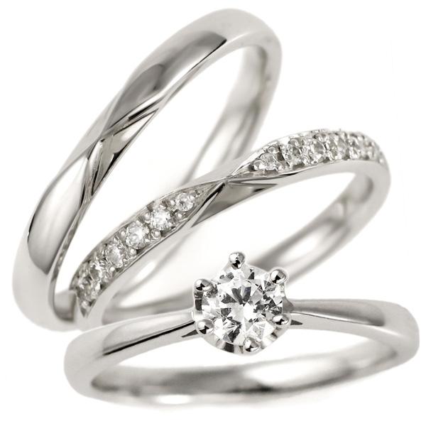 婚約指輪 結婚指輪 重ね付け セットリング プラチナ ダイヤモンド エンゲージリング マリッジリング ペアリング 末広 スーパーSALE