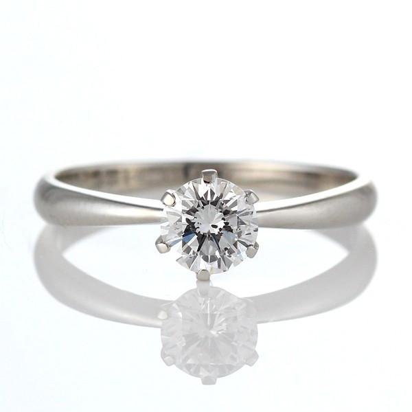 婚約指輪 ダイヤモンド リング 立爪 ダイヤ エンゲージリング ダイヤモンド ダイヤリング K18ホワイトゴールド VVS1クラス0.20ct 鑑定書付き