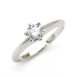 婚約指輪 ダイヤモンド リング 立爪 ダイヤ エンゲージリング ダイヤモンド ダイヤリング プラチナ950 SIクラス0.20ct 鑑定書付き