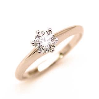 婚約指輪 ダイヤモンド リング 立爪 ダイヤ エンゲージリング ダイヤモンド ダイヤリング K18ピンクゴールド SIクラス0.30ct 鑑定書付き