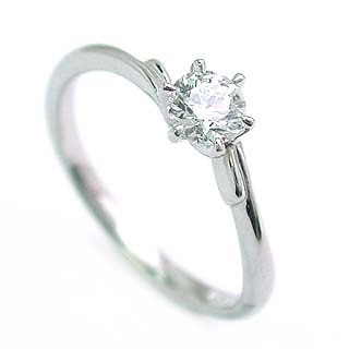 婚約指輪 ダイヤモンド リング 立爪 ダイヤ エンゲージリング ダイヤモンド ダイヤリング K18ホワイトゴールド VVS1クラス0.30ct 鑑定書付き 【DEAL】