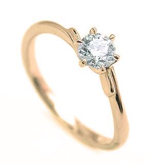 婚約指輪 ダイヤモンド リング 立爪 ダイヤ エンゲージリング ダイヤモンド ダイヤリング K18イエローゴールド VVS1クラス0.30ct 鑑定書付き 【DEAL】
