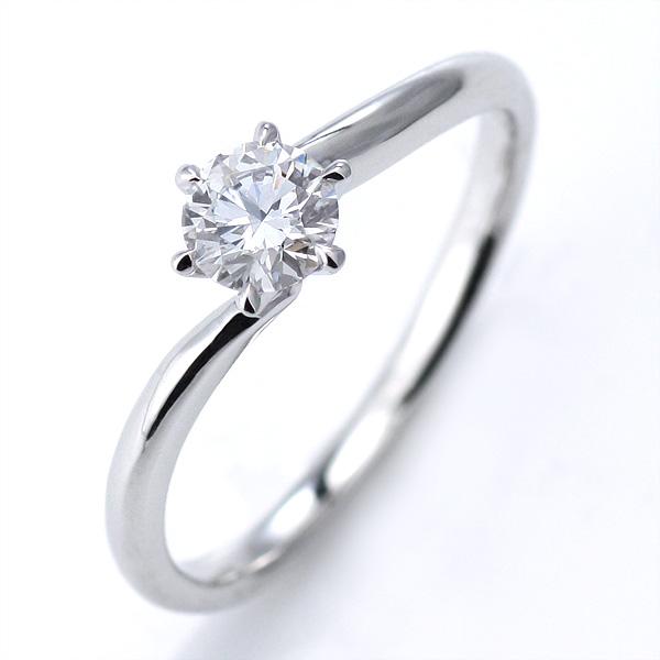 婚約指輪 ダイヤモンド リング 立爪 ダイヤ エンゲージリング ダイヤモンド ダイヤリング プラチナ900 SIクラス0.30ct 鑑定書付き 【DEAL】