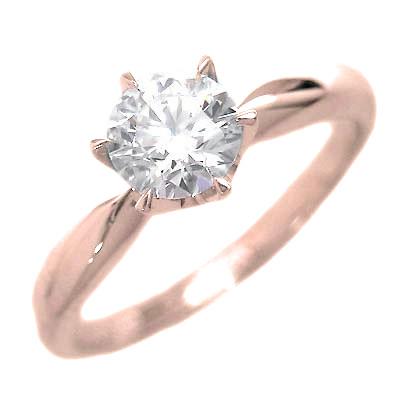 婚約指輪 ダイヤモンド リング 立爪 ダイヤ エンゲージリング ダイヤモンド ダイヤリング K18ピンクゴールド VVS1クラス0.20ct 鑑定書付き 【DEAL】