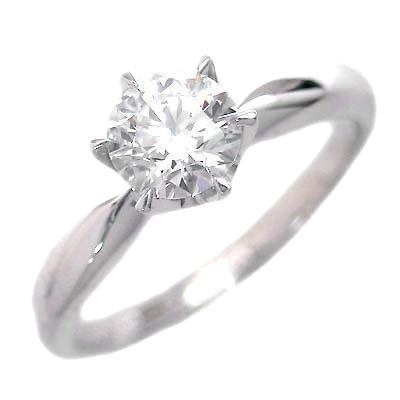 婚約指輪 ダイヤモンド リング 立爪 ダイヤ エンゲージリング ダイヤモンド ダイヤリング K18ホワイトゴールド SIクラス0.30ct 鑑定書付き 【DEAL】